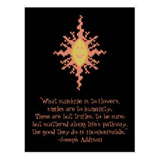Joseph Addison Smile Quote Postcard
