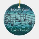 Joseph-Amazing Grace Double-Sided Ceramic Round Christmas Ornament