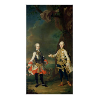 Joseph and Leopold, sons of Francis I and Maria Poster