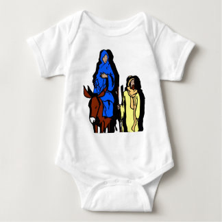 Joseph and Mary Christian artwork Baby Bodysuit