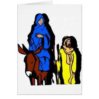 Joseph and Mary Christian artwork Card