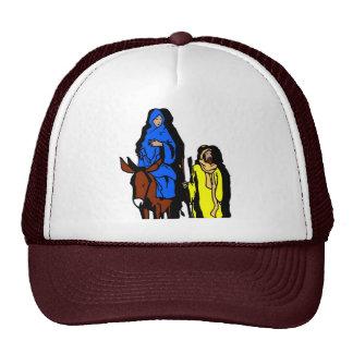 Joseph and Mary Christian artwork Mesh Hat