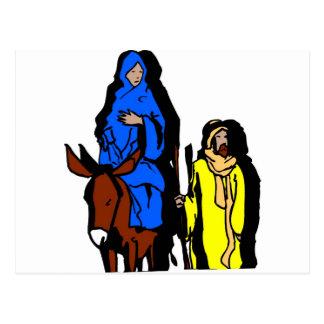 Joseph and Mary Christian artwork Postcard