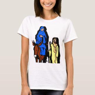 Joseph and Mary Christian artwork T-Shirt