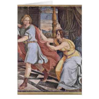 Joseph And Potiphar'S Wife By Veit Philipp Greeting Card