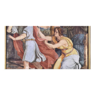 Joseph And Potiphar'S Wife By Veit Philipp Photo Card