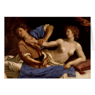 Joseph and the Wife of Potiphar, c.1649 Card