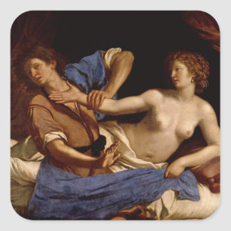 Joseph and the Wife of Potiphar, c.1649 Square Sticker