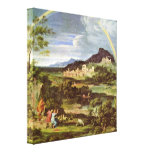 Joseph Anton Koch - Landscape with Rainbow Stretched Canvas Prints