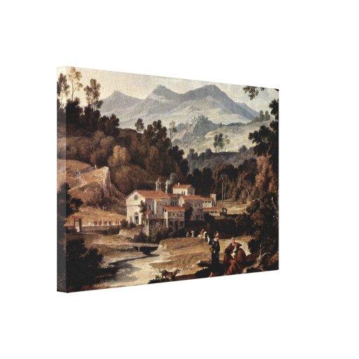 Joseph Anton Koch - Monastery of San Francesco Stretched Canvas Prints