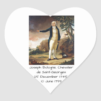Joseph Bologne, Chevalier de Saint-Georges Heart Sticker