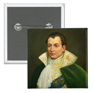 Joseph Bonaparte 2 Inch Square Button