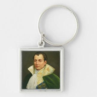 Joseph Bonaparte Silver-Colored Square Keychain