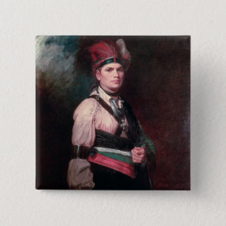 Joseph Brant, Chief of the Mohawks, 1742-1807 Pinback Button