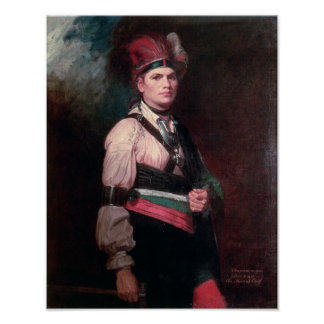 Joseph Brant, Chief of the Mohawks, 1742-1807 Posters