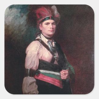 Joseph Brant, Chief of the Mohawks, 1742-1807 Square Sticker