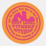 Joseph Brooks Next Level Fitness Studio 4 Classic Round Sticker