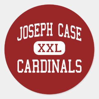 Joseph Case - Cardinals - Senior - Swansea Round Stickers