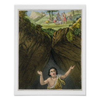 Joseph Cast into the Pit by his Brethren, from a b Poster