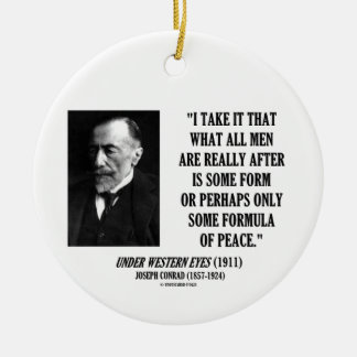 Joseph Conrad All Men After Some Formula Of Peace Christmas Ornaments