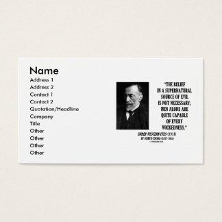 Joseph Conrad Belief In Supernatural Wickedness Business Card