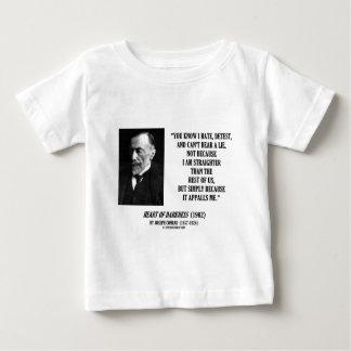 Joseph Conrad Hate Detest Lie Appalls Me Quote Baby T-Shirt