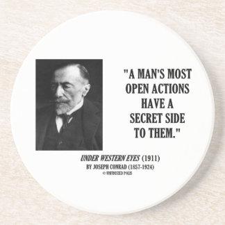 Joseph Conrad Man's Most Open Actions Secret Side Coaster