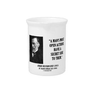 Joseph Conrad Man's Most Open Actions Secret Side Pitchers