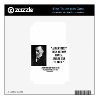 Joseph Conrad Man's Most Open Actions Secret Side Skin For iPod Touch 4G