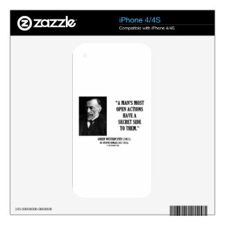 Joseph Conrad Man's Most Open Actions Secret Side Decals For The iPhone 4S