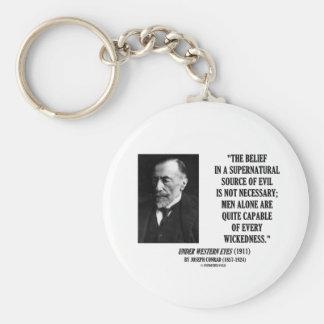 Joseph Conrad Source Evil Man Capable Wickedness Key Chain