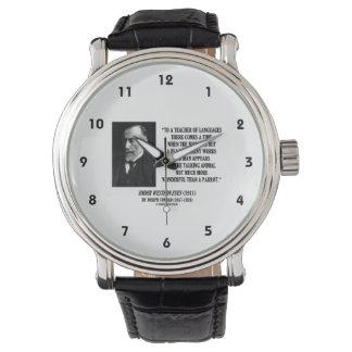 Joseph Conrad Teacher Of Languages Parrot Quote Wrist Watch