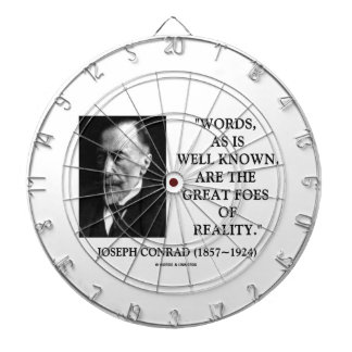 Joseph Conrad Words Great Foes Of Reality Quote Dart Board