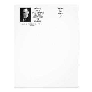 Joseph Conrad Words Great Foes Of Reality Quote Customized Letterhead