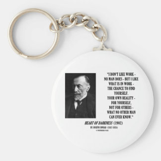 Joseph Conrad Work Chance Your Own Reality Quote Keychain