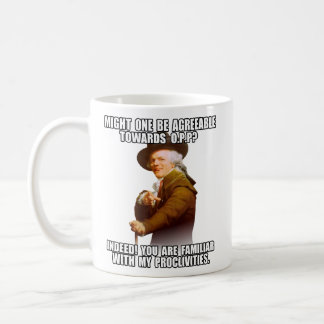Joseph Ducreux Archiaic Rap OPP Classic White Coffee Mug