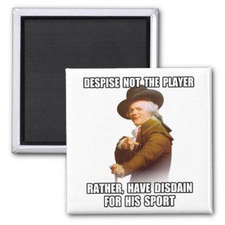 Joseph Ducreux Player Disdain 2 Inch Square Magnet