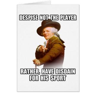 Joseph Ducreux Player Disdain Greeting Card