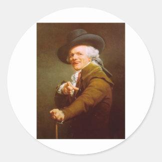 Joseph Ducreux Round Stickers
