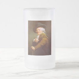 Joseph Ducreux Self Portrait Frosted Glass Beer Mug