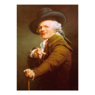 Joseph Ducreux Self Portrait Personalized Invite