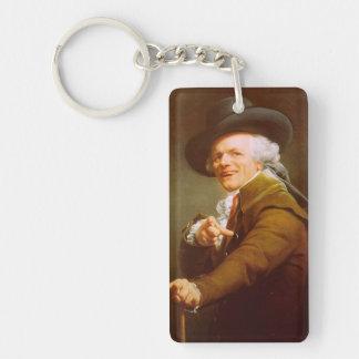 Joseph Ducreux Self Portrait Single-Sided Rectangular Acrylic Keychain