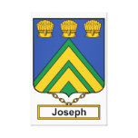 Joseph Family Crest Gallery Wrap Canvas