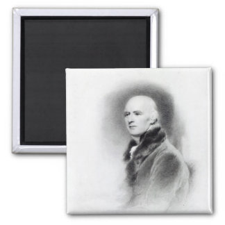 Joseph Farington, engraved by Richard Evans 2 Inch Square Magnet
