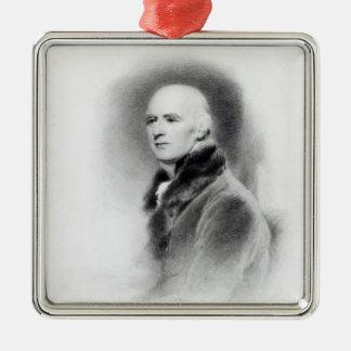 Joseph Farington, engraved by Richard Evans Square Metal Christmas Ornament