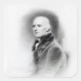 Joseph Farington, engraved by Richard Evans Square Sticker