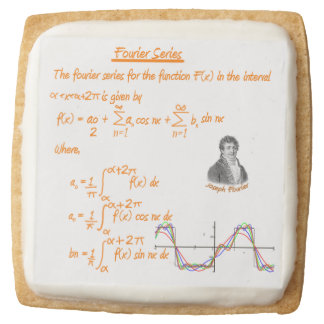 Joseph Fourier and Fourier series Square Shortbread Cookie