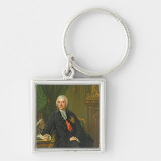 Joseph-Francois Foulon  after 1760 Silver-Colored Square Keychain