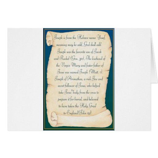 Joseph Greeting Card
