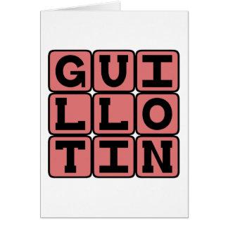 Joseph Guillotin, French Inventor Card